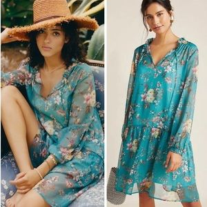 Emmy Floral Tunic Dress by Anthropologie NWT S